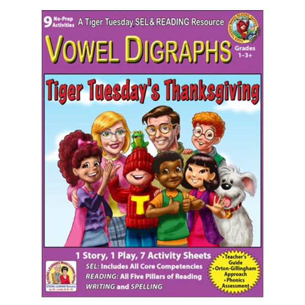 6036D - Vowel Digraphs 9 Thanksgiving Story COVER 500H 60