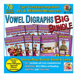 603BD - Vowel Digraphs BIG BUNDLE - SQ COVER 500h 60
