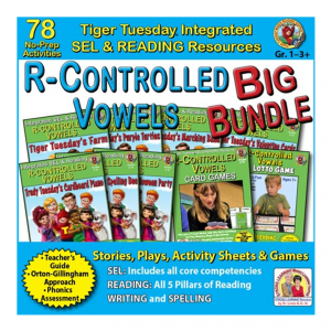 604BD - R-Controlled Vowels BIG BUNDLE - SQ COVER 500h 60