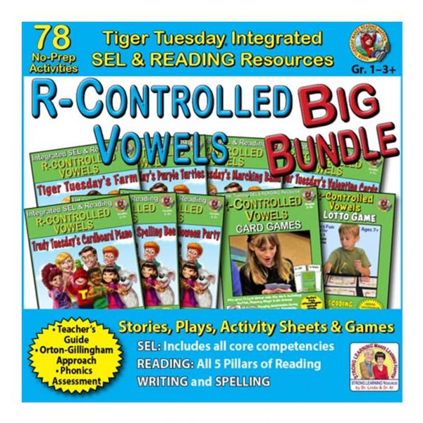 604BD - R-Controlled Vowels BIG BUNDLE - SQ COVER 500h 60