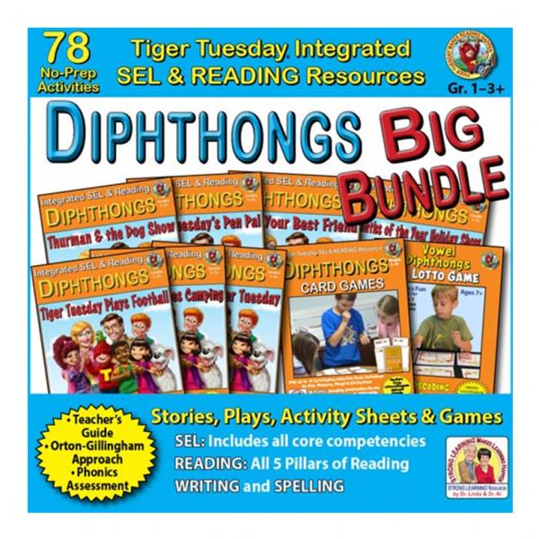 605BD - Diphthongs BIG BUNDLE - SQ COVER 500h 60
