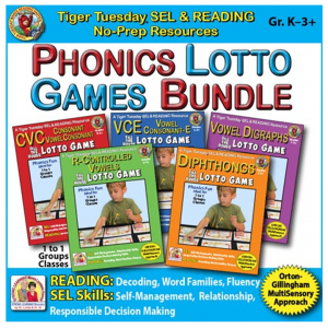 A225D - PHONICS LOTTO BUNDLE - 5 GAMES 500h 60
