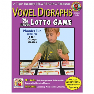 L603D Vowel Digraphs LOTTO GAME - COVER 500H 60